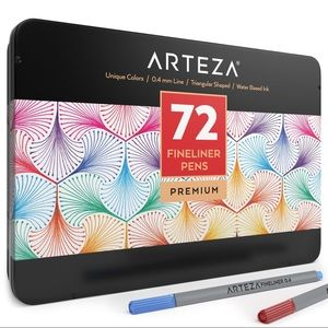 Arteza fineliner pens - 72 set